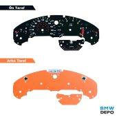 BMW E36 220 KMH SİYAH GÖSTERGE KADRAN ZEMİN KAĞIDI SETİ