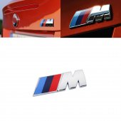 Bmw M Amblem Krom Renk 3d Logo