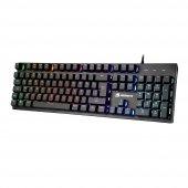 Gamebooster Gb G76k Usb Q Trk Rainbow Aydınlatmalı Semi Mechanical Siyah Gaming Klavye