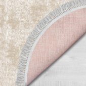 Decoling İpek 2029-Krem Dekoratif Oval Klozet Takı-4