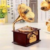 Nostaljik Gramofon Müzik Kutusu-2