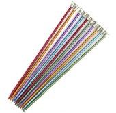 Renkli Metal Örgü Şiş 3,5 Numara