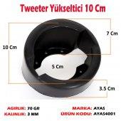 (2 Adet) 10 Cm Plastik Tweeter Yükseltici Kasnak Çerçeve Takoz