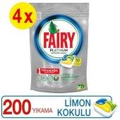 Fairy Platinum Limon 50 Adet 4'lü Paket Bulaşık...