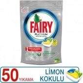 Fairy Platinum Bulaşık Kapsülü Limon Kokulu 50...