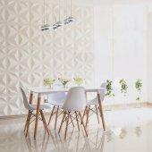 Eames Masa Sandalye Takımı Beyaz 80x120 + 4 Sandalye