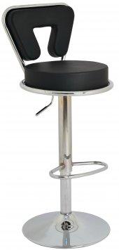 Boombar Virago Bar Sandalyesi - Siyah Deri - 9540S0101