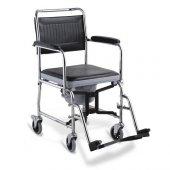 120kg Kapasiteli Banyo Sandalyesi Hasta Tuvalet Sandalyesi Ev Tipi Tekerlekli