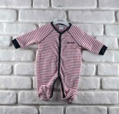 Pierre Cardin 160457 Erkek Bebek Tulum Kırmızı Çizgili