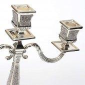 Kristalli Üçlü Şamdan Gümüş-4