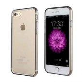 Iphone 7 Silikon Arka Kılıf 0,3mm Şeffaf Siyah