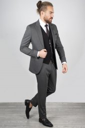 DeepSEA Antracite Yelek Zincir Aksesuarlı Takım Elbise 2001120-3