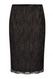 Faberlic Siyah Güpürlü Etek 40 Beden