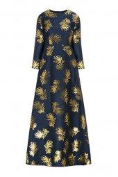 Faberlic Lacivert Uzun Kollu Desenli Elbise 40...