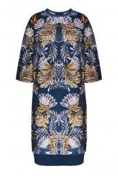 Faberlic Mavi Yarım Kollu Desenli Elbise 42...
