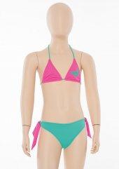 Fuşya Mavi Kız Çocuk Kelebekli Üçgen Bikini