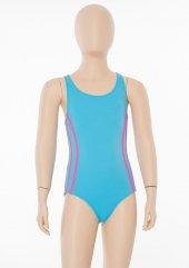 Mavi Kız Çocuk Yüzücü Mayo