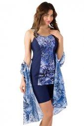 Lacivert / Desenli Mayo Elbise
