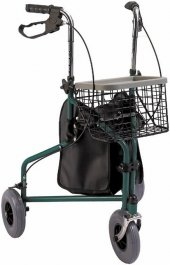 Pr 888 Rollatör Hasta Yaşlı Yürüteci 3 (Üç) Tekerlekli Frenli Lüx