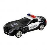 1 32 Ölçek Sesli Ve Işıklı Polis Arabası 13 Cm...