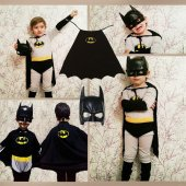Pelerinli Batman Kostümü Batman Kostüm Kara...