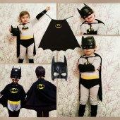 Batman Kostümü Pelerinli Batman Kostüm Kara...