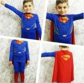 Pelerinli Süperman Kostümü Süper Adam Kostümü...