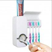 Diş Macunu Sıkacağı Ve 5li Fırça Tutucu