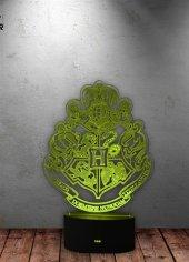Hogwarts 3D 7 Renk Değiştiren Gece Lambası