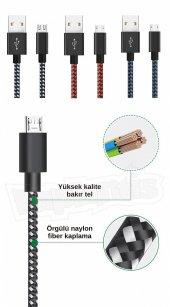 Diwu Micro USB Örgülü Yüksek Hızlı Şarj Kablosu Siyah-2