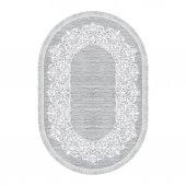 Decoling İpek 1811 Gri Dekoratif Oval Halı