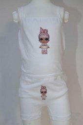 Kız Çocuk Lol Bebek Desenli İç Çamaşır Takımı