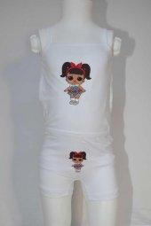 Kız Çocuk Lol Bebek Desenli İç Çamaşır Takımı-2