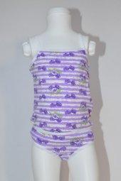 Kız Çocuk Kurdela Desenli İç Çamaşır Takımı
