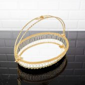 Telkari Kulplu Şekerlik Aynalı Gold Renk