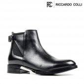 Riccardo Colli Z8352 Siyah 100 Deri Bayan Bot-2