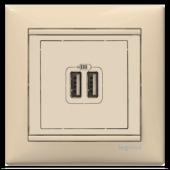 774170 LEGRAND VALENA SERİSİ USB ŞARJ PRİZİ BEJ-2