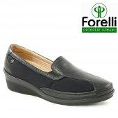 Forelli 26219 Deri Ortopedik Comfort Bayan Ayakkabı Siyah