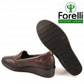 Forelli 25109 Deri Ortopedik Comfort Bayan Ayakkabı Kahve-3