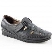 Forelli 23407 Deri Ortopedik Comfort Bayan Ayakkabı Siyah