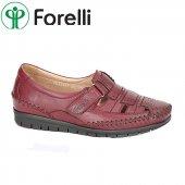 Forelli 23407 Deri Ortopedik Comfort Bayan Ayakkabı Bordo