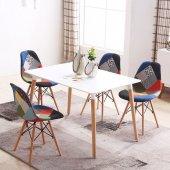 Eames Dikdörtgen Mutfak Masası Beyaz 80x120 cm-2