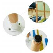 Eames Dikdörtgen Mutfak Masası Beyaz 80x120 cm-4