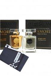 Damore 100 Ml EDP Siyah Şal Hediyeli Erkek & Kadın Parfüm Seti