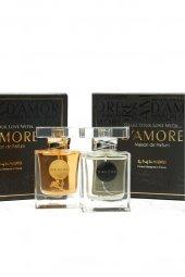 Damore 100 Ml EDP Siyah Şal Hediyeli Erkek & Kadın Parfüm Seti -2
