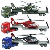 1:48 Metal Helikopter Taşıyıcı Tır