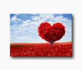 Sevgi Ağacı Kanvas Tablo