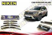 Dacia Duster 2018 Kromlu Cam Rüzgarlığı 4lü