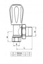 Baymera 1/2 Köşe Radyatör Vanası-2