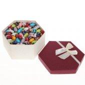 çikolatalı Badem Şekeri Sürpriz Kutusu (Sevgili,eş,anne Ye Hediye)